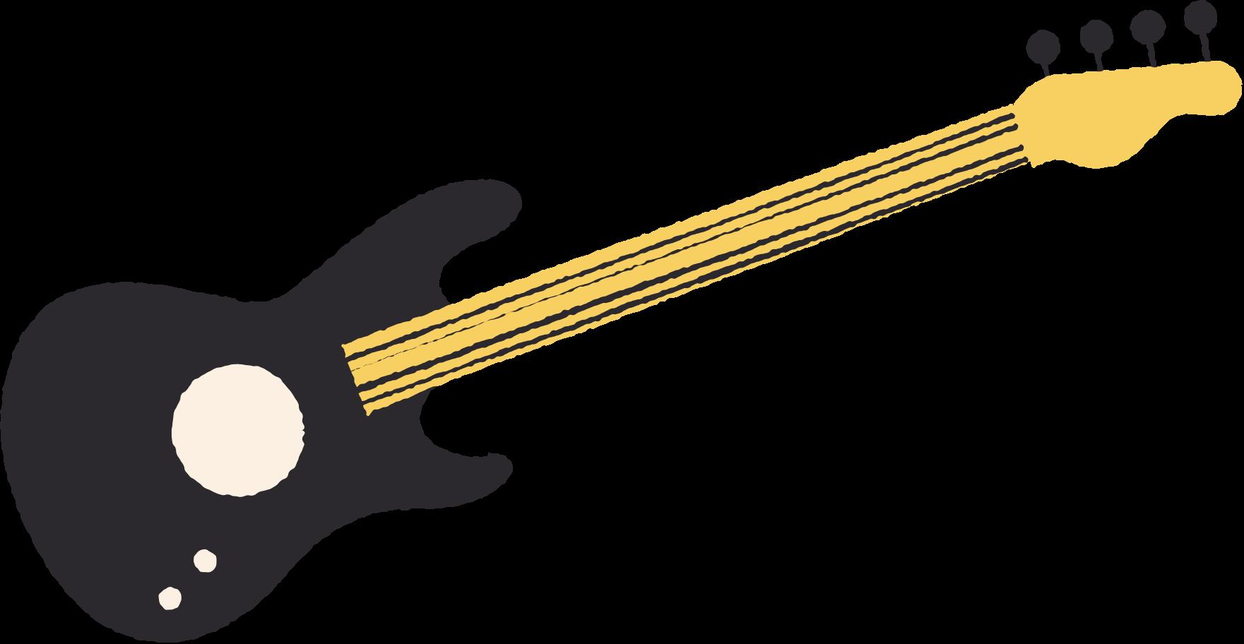 guitar black Clipart illustration in PNG, SVG