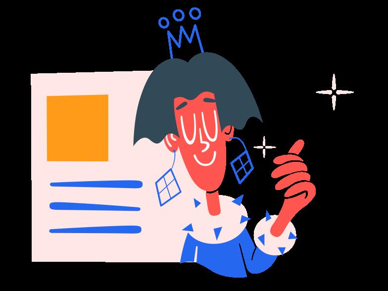 Profile update Clipart illustration in PNG, SVG