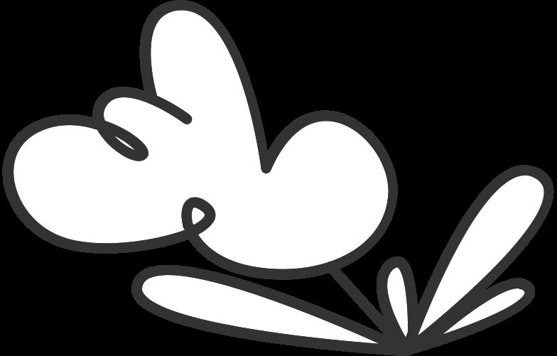 sing in form  flower Clipart illustration in PNG, SVG
