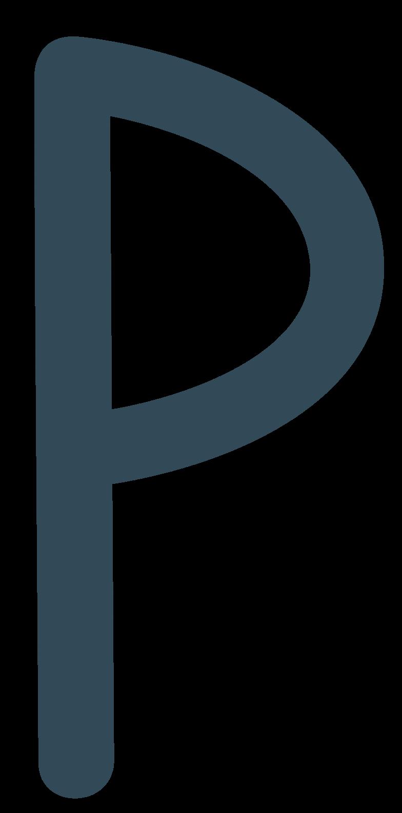 p dark blue Clipart illustration in PNG, SVG