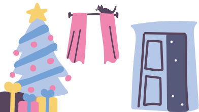 style Cozy christmas home images in PNG and SVG | Icons8 Illustrations