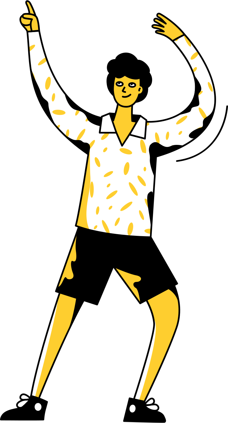 teen party  boy Clipart illustration in PNG, SVG
