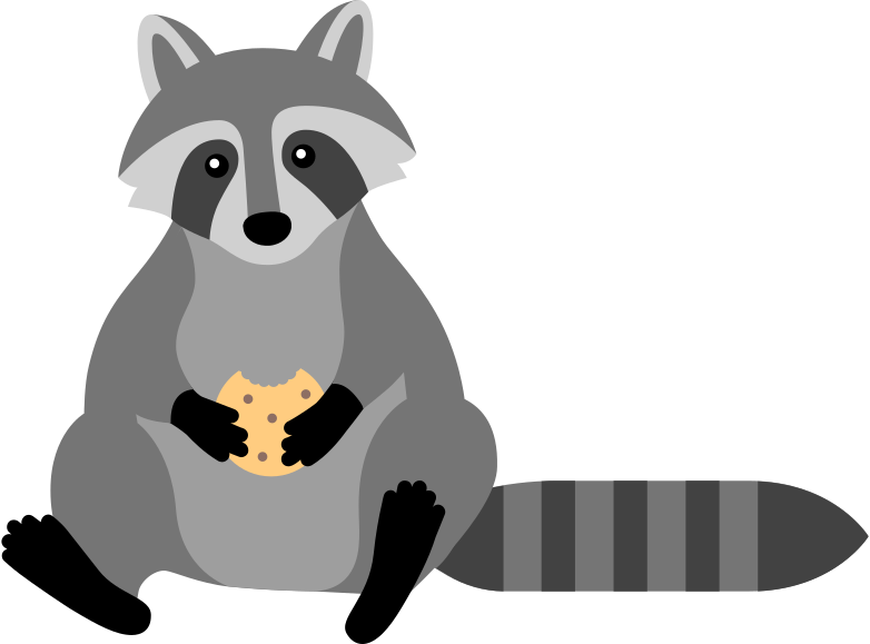 racoon Clipart illustration in PNG, SVG
