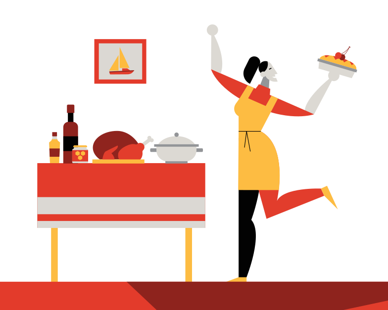 style Thanksgiving dinner Vector images in PNG and SVG | Icons8 Illustrations