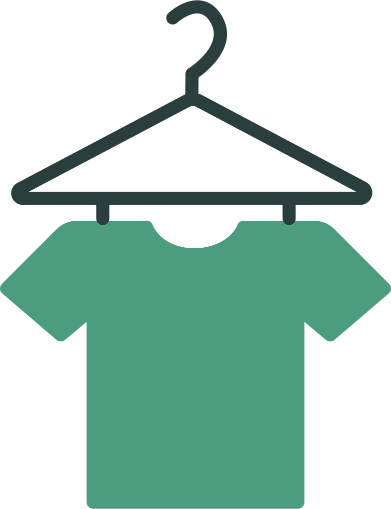 hanger with t-shirt Clipart illustration in PNG, SVG