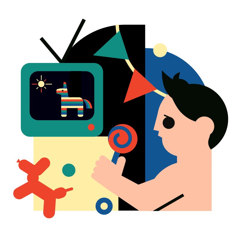Children's television programs Clipart illustration in PNG, SVG
