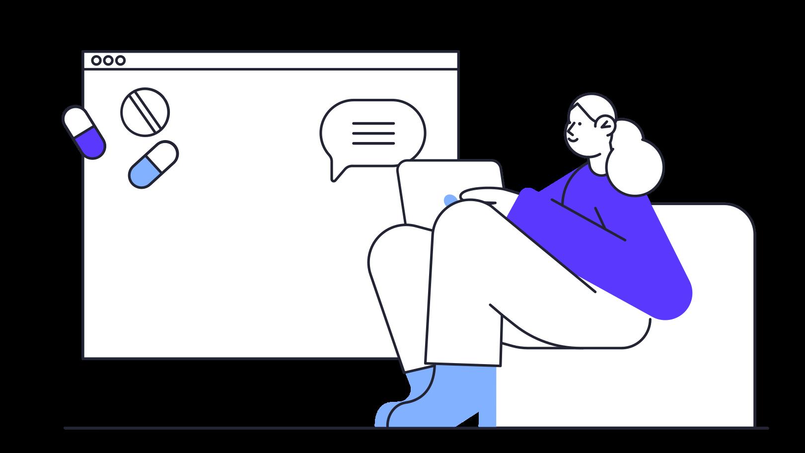 Imágenes vectoriales Consulta médica en línea en PNG y SVG estilo  | Ilustraciones Icons8