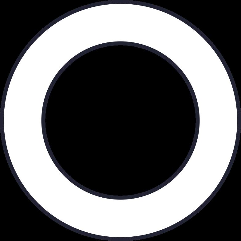 big donut white Clipart illustration in PNG, SVG