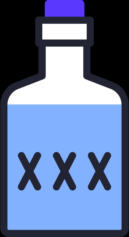 poison bottle Clipart illustration in PNG, SVG