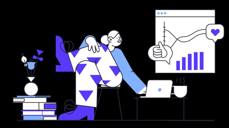 Website statistics Clipart illustration in PNG, SVG