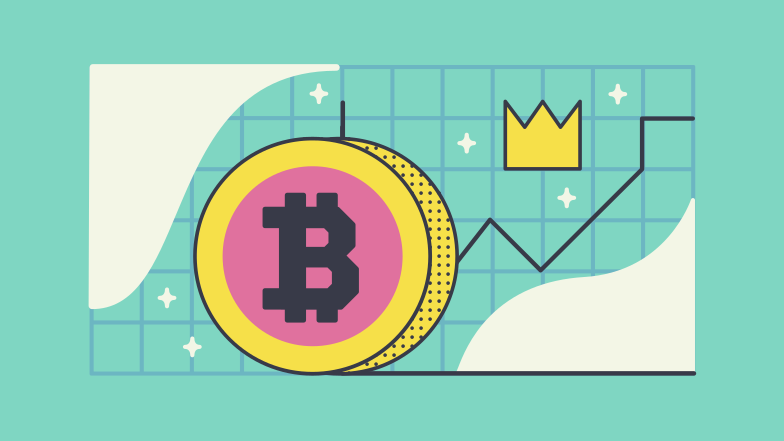 Cryptocurrency rising Clipart illustration in PNG, SVG