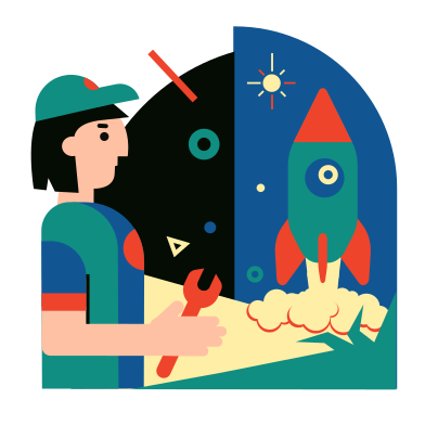 style Rocket Science images in PNG and SVG | Icons8 Illustrations