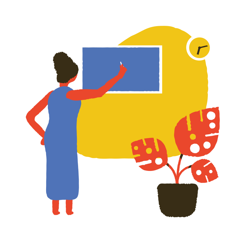 style Teacher at the blackboard Vector images in PNG and SVG | Icons8 Illustrations