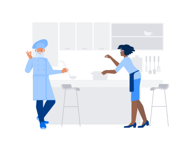 style Cooking with chef images in PNG and SVG | Icons8 Illustrations