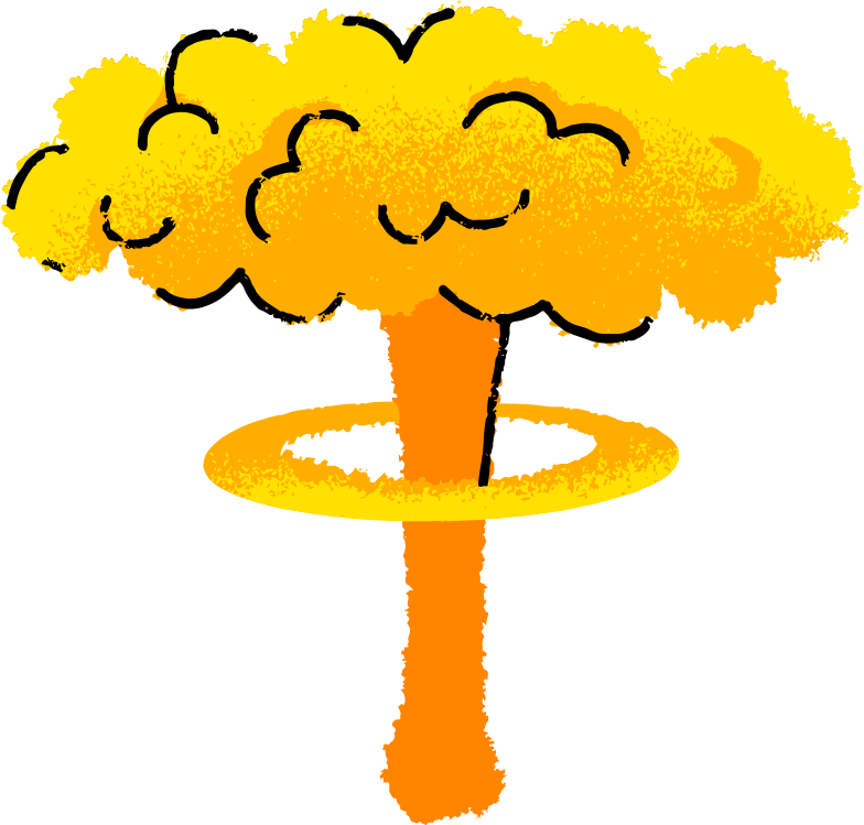 nuclear explosion Clipart illustration in PNG, SVG