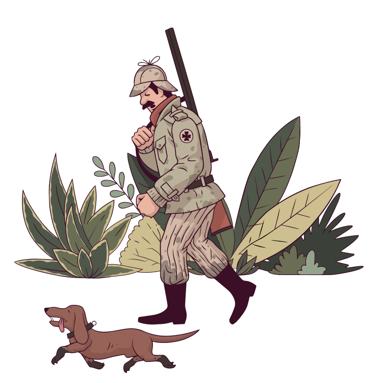 Hunting Clipart illustration in PNG, SVG