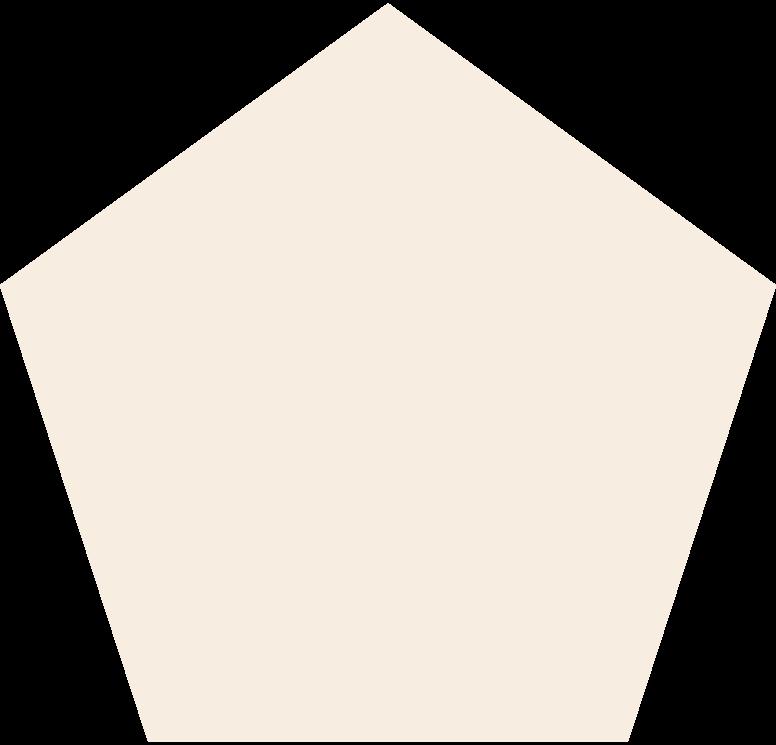 Fünfeckig-beige Clipart-Grafik als PNG, SVG