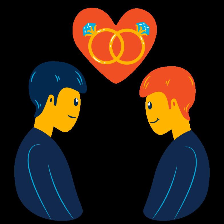 Glückliches ehepaar Clipart-Grafik als PNG, SVG