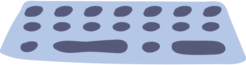 computer keyboard Clipart illustration in PNG, SVG