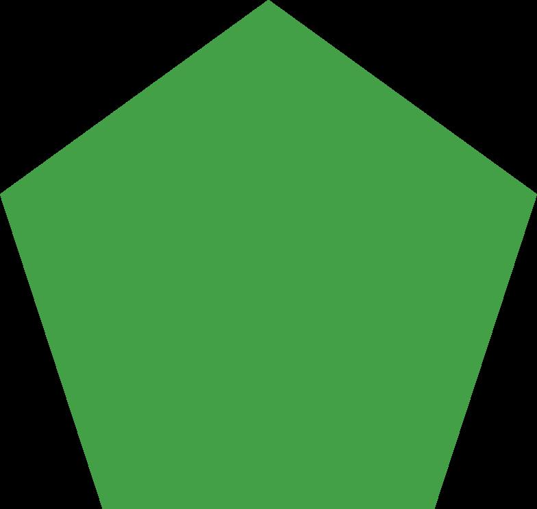 pentagon green Clipart illustration in PNG, SVG