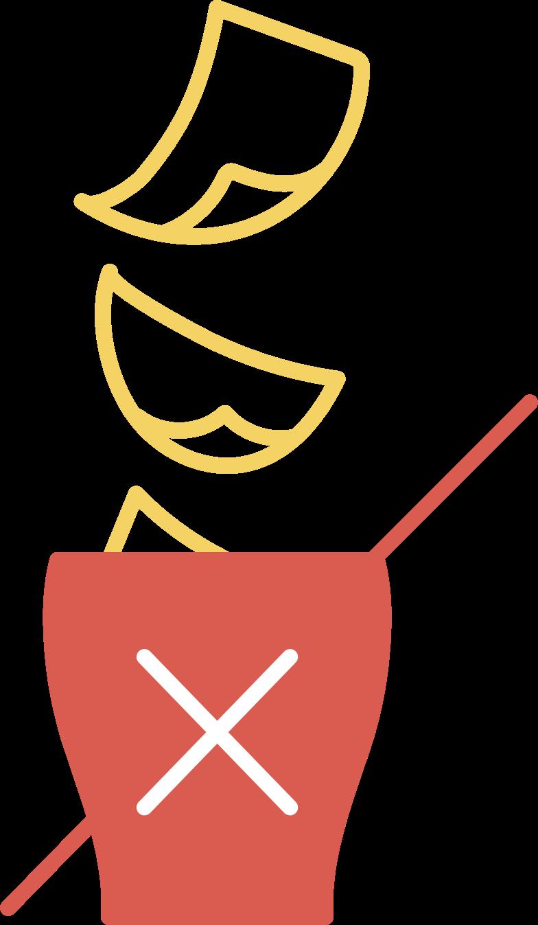 delete confirmation  bucket Clipart illustration in PNG, SVG