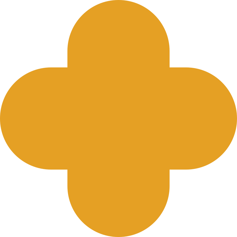 Vierpass orange Clipart-Grafik als PNG, SVG