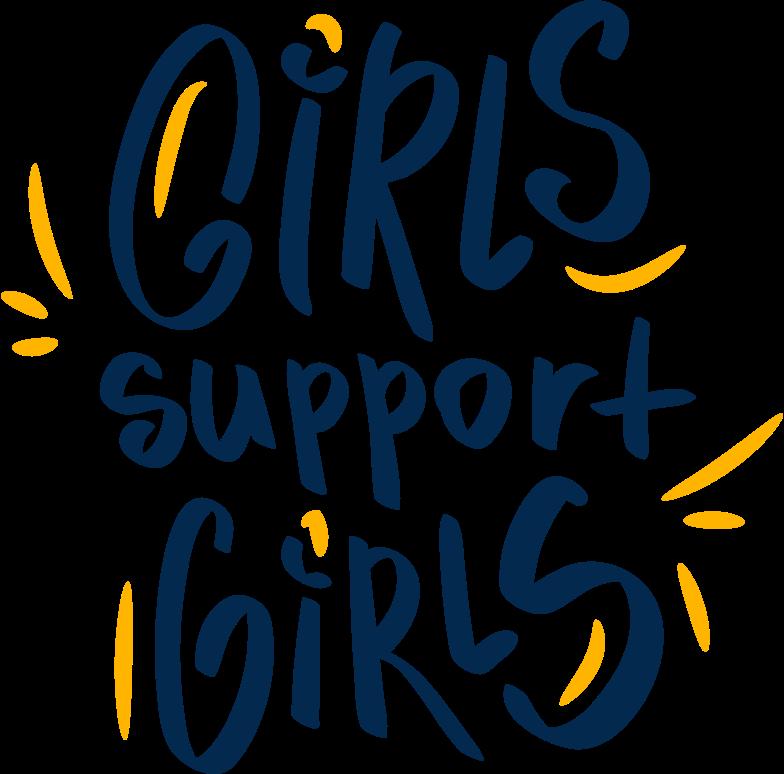 girls support girls Clipart illustration in PNG, SVG