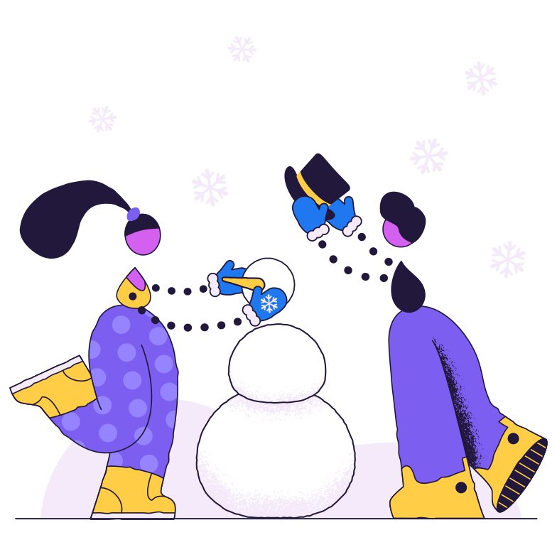 style Children make a snowman Vector images in PNG and SVG | Icons8 Illustrations