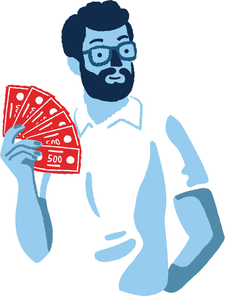 man with a money Clipart illustration in PNG, SVG