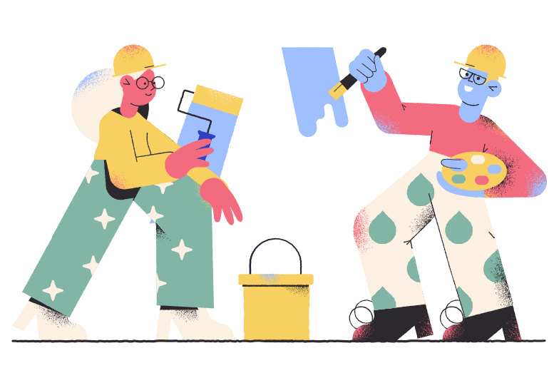 Home renovating Clipart illustration in PNG, SVG