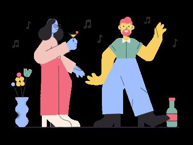 Иллюстрация Танцы в стиле  в PNG и SVG | Icons8 Иллюстрации