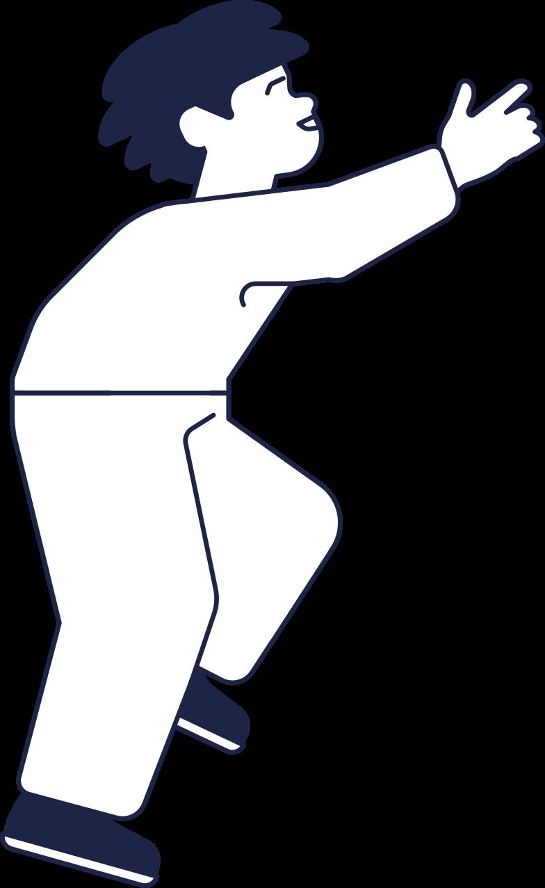 boy kid 2 line Clipart illustration in PNG, SVG