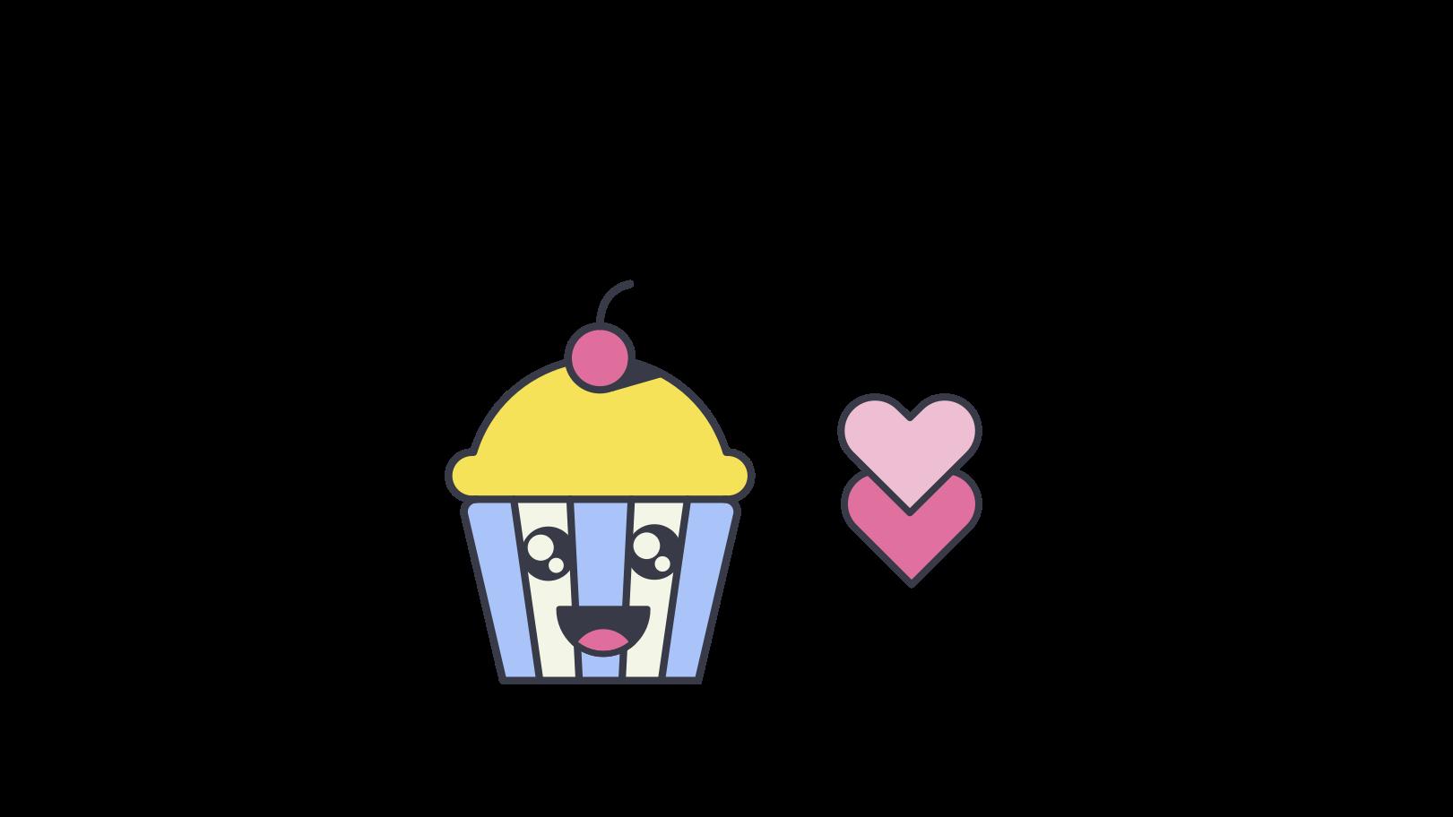 Illustration clipart Cupcake mignon aux formats PNG, SVG