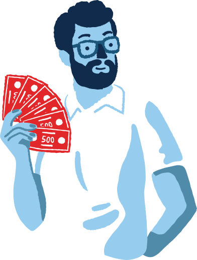 style man with a money images in PNG and SVG | Icons8 Illustrations