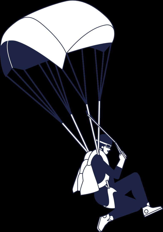 fatal error  parashutist line Clipart illustration in PNG, SVG