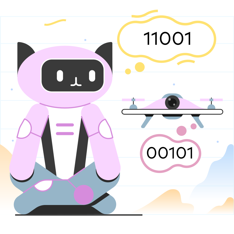 Robots and drones Clipart illustration in PNG, SVG