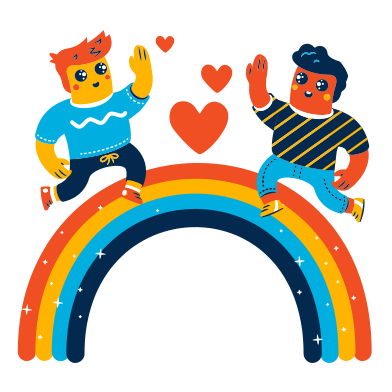 style Walking on a rainbow images in PNG and SVG   Icons8 Illustrations
