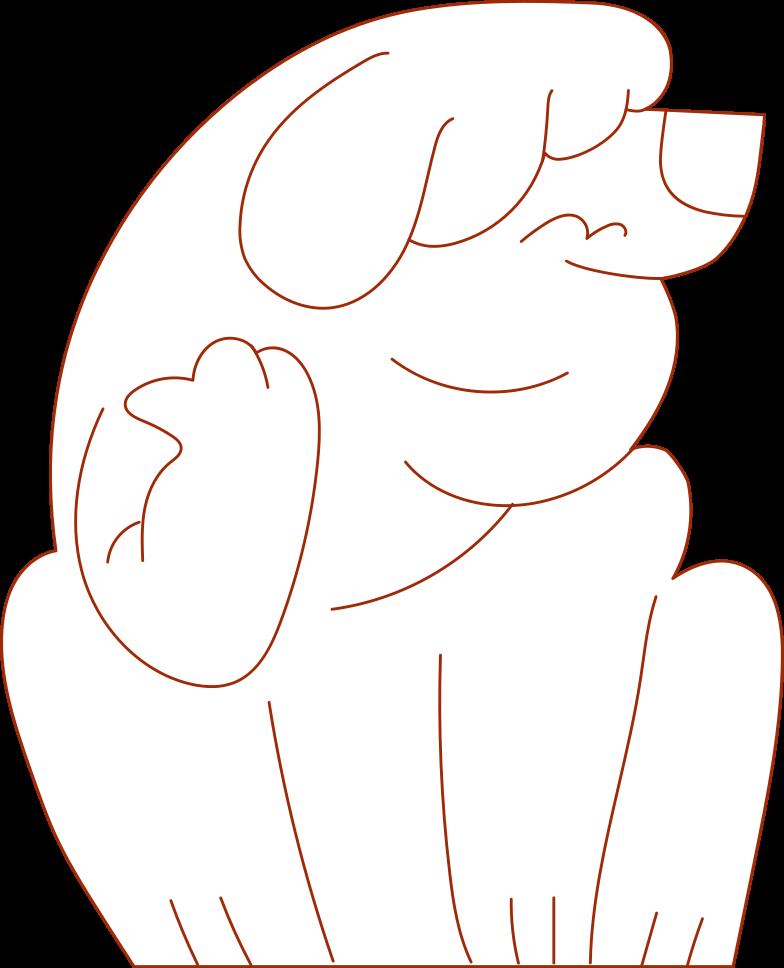 i support dog Clipart illustration in PNG, SVG