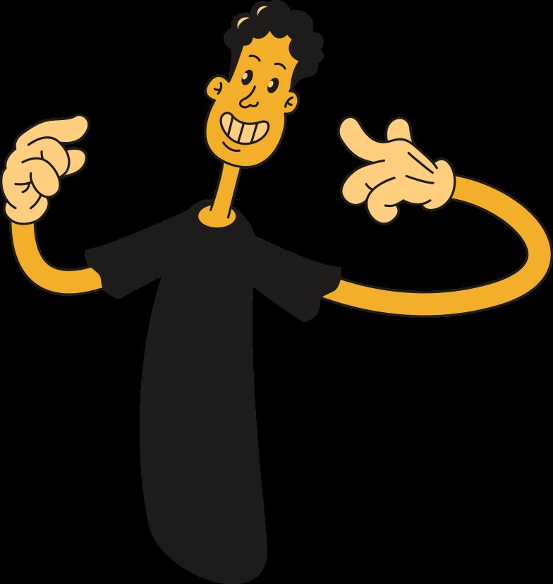 man showing Clipart illustration in PNG, SVG