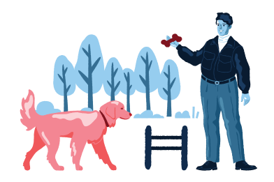 style Dog training images in PNG and SVG | Icons8 Illustrations