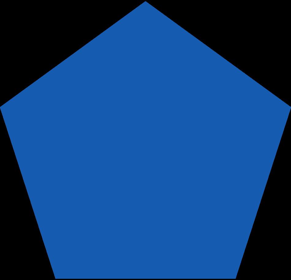 pentagon-blue Clipart illustration in PNG, SVG