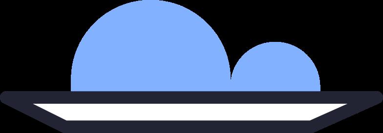order completed  plate Clipart illustration in PNG, SVG