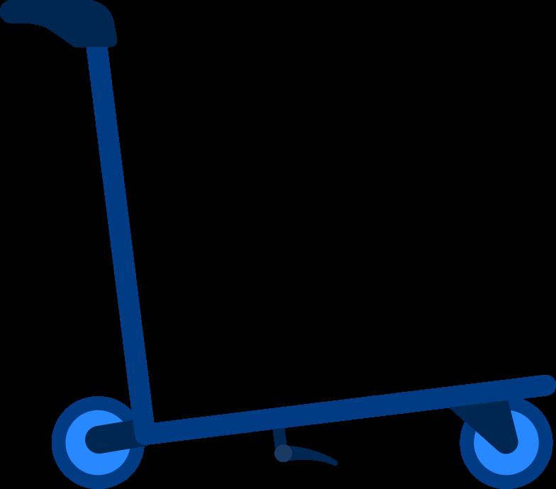 Ilustración de clipart de airport troley en PNG, SVG