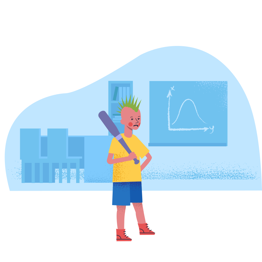 Bully boy at the school Clipart illustration in PNG, SVG