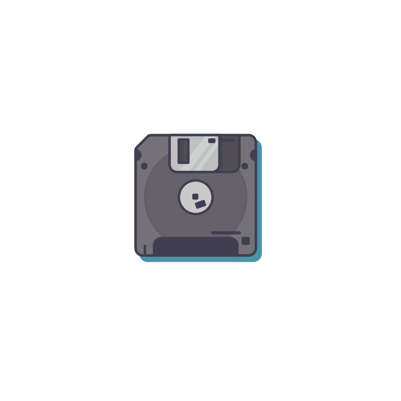 Floppy Clipart illustration in PNG, SVG