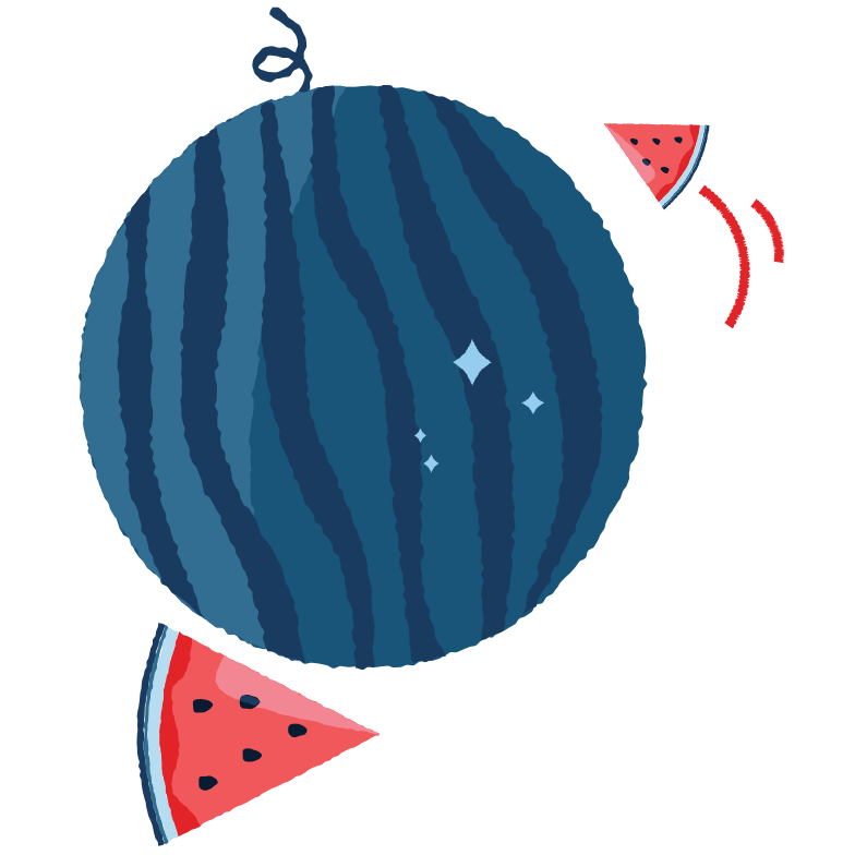 Watermelon planet Clipart illustration in PNG, SVG