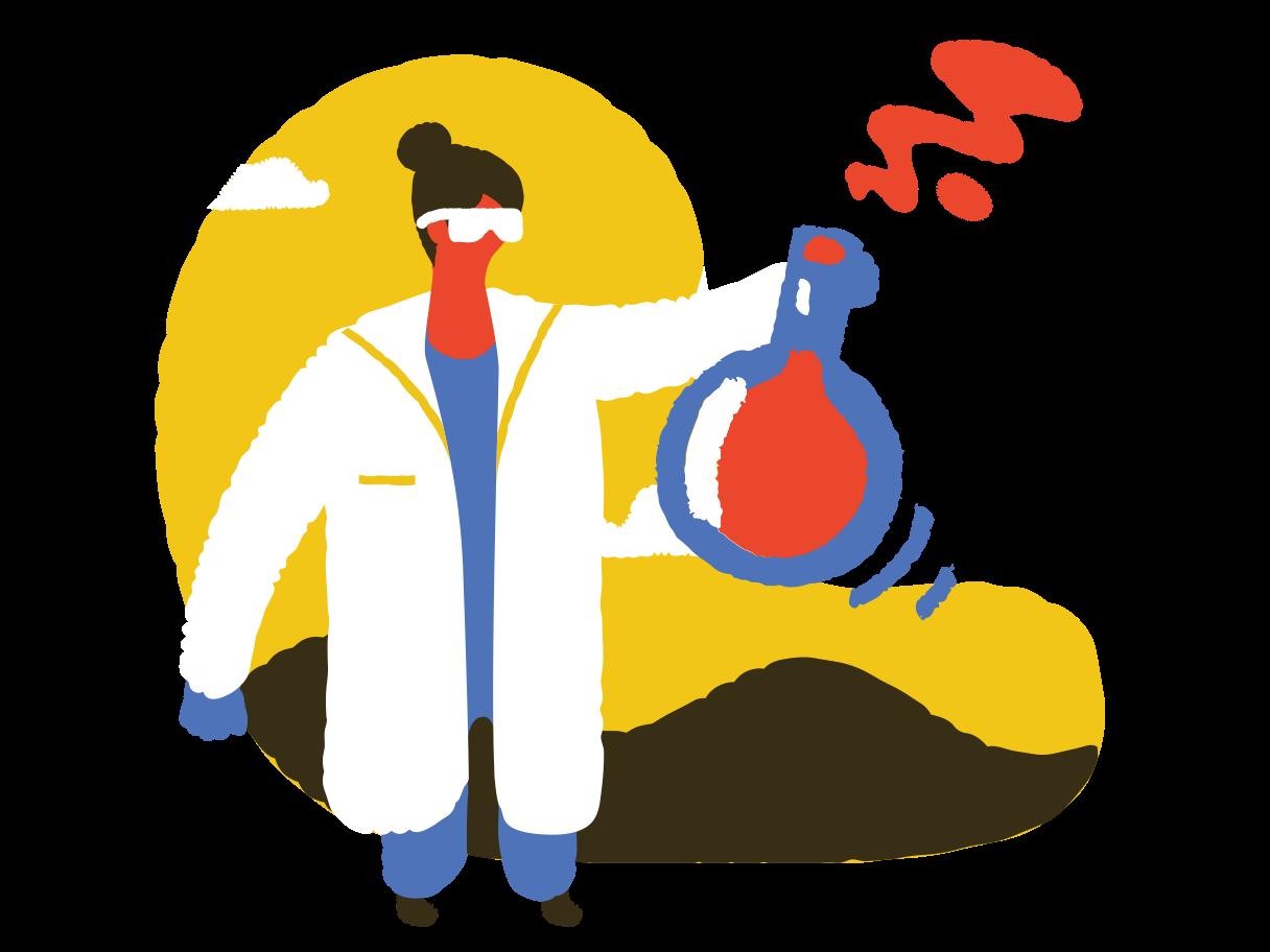 Ilustración de clipart de ¡la vacuna está lista! en PNG, SVG