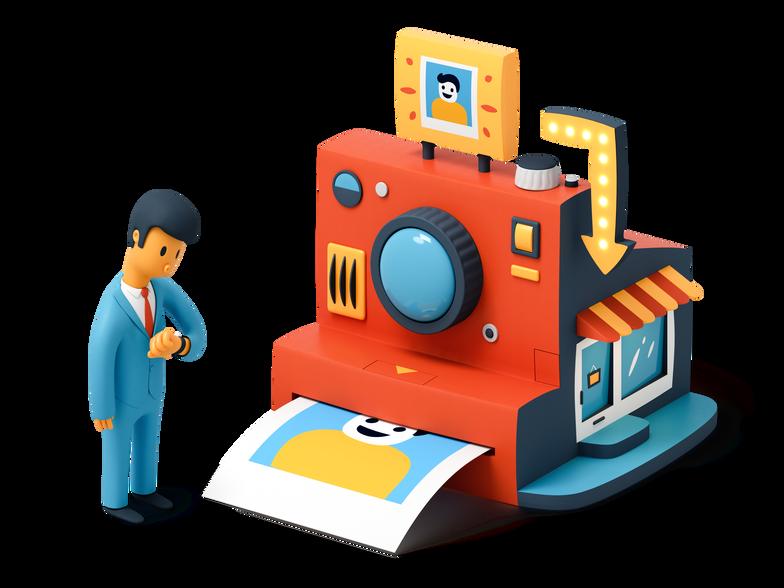 Imprimindo uma foto Clipart illustration in PNG, SVG