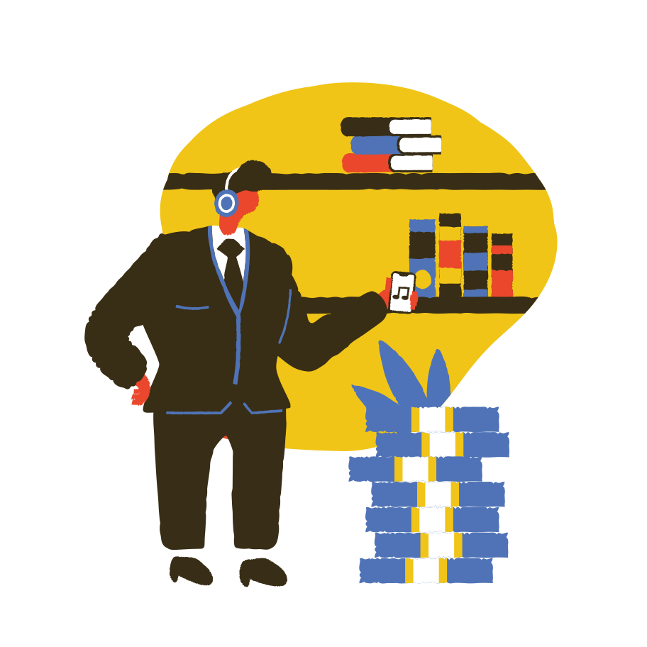 Business podcast Clipart illustration in PNG, SVG