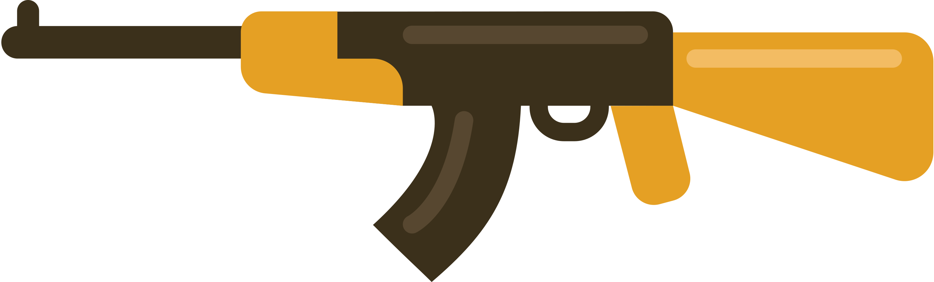 machine gun ak Clipart illustration in PNG, SVG
